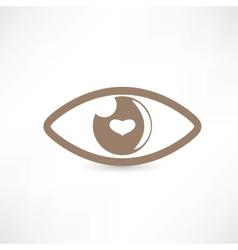 Eye abstract icon vector