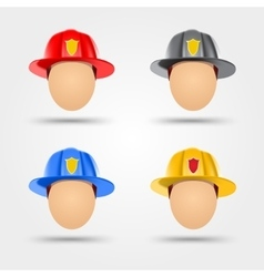 Firefighter helmets vector