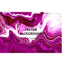 Fluid art texture background with abstract mixing vector