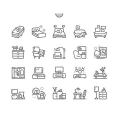 Furniture well-crafted pixel perfect thin vector