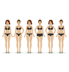 girls in black underwear vector image