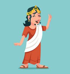 Greek woman roman female retro vintage cartoon vector