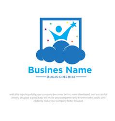 happy dreams logo vector image