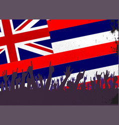 Hawaii state flag with audience vector