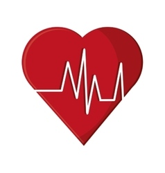 Heart with pulse and fitness concept design vector