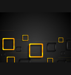 hi-tech minimal background with black and orange vector image vector image