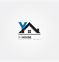 House icon template with y letter home creative vector