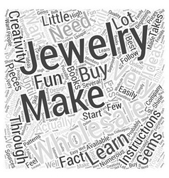 How to make your own jewelry wholesale Word Cloud vector