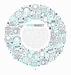 hypermarket concept in circle vector image