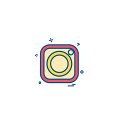 instagram icon design vector image