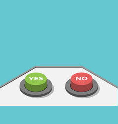 Isometric yes no buttons vector