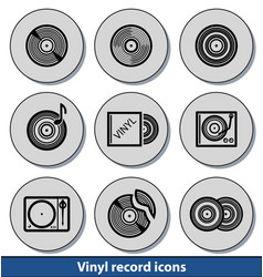 Light vinyl record icons vector