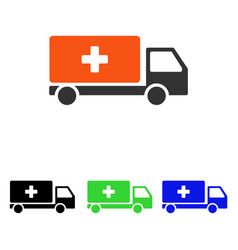 Medical shipment flat icon vector