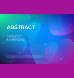 Modern dynamic futuristic web design template vector