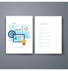Modern marketing presentation and sales trends vector image