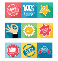 nine guarantee icon vector image
