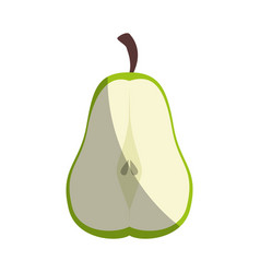 Pear cut in half vector