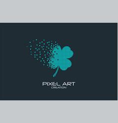 Pixel art clover logo vector