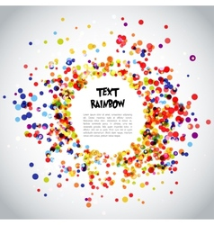 Rainbow Circle Pattern Background vector