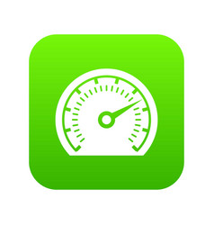 speedometer icon green vector image