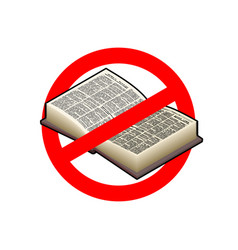 stop read it is forbidden to education red vector image