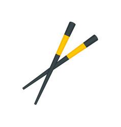 Sushi chopsticks icon flat style vector