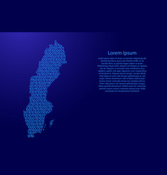 sweden map abstract schematic from blue ones and vector image