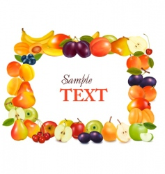 sweet fruits background vector image