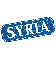 Syria blue square grunge retro style sign vector