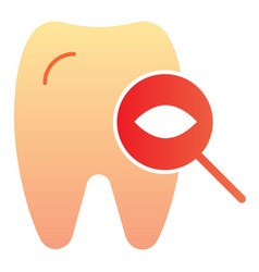 Tooth examine flat icon dental examination color vector