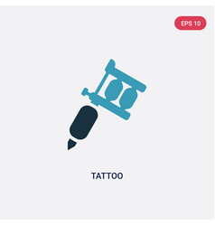 two color tattoo icon from tools and utensils vector image