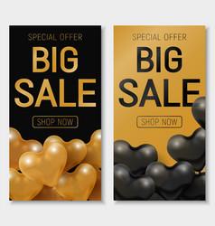 valentine s day big sale offer modern fashion vector image