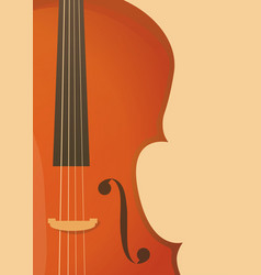 vertical banner in retro style with fiddle violin vector image