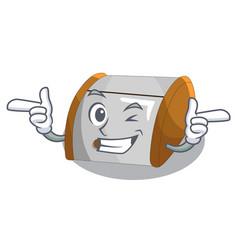 Wink character modern plastic bread bin box vector