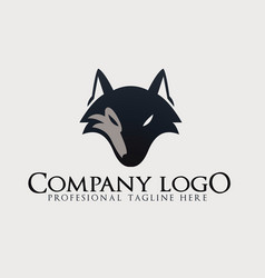 wolf abstract template logo design vector image