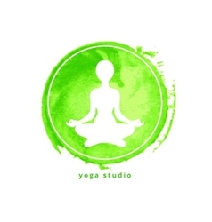 Yoga studio icon vector image