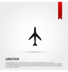 Airplane icon Airplane icon object Template for vector image vector image