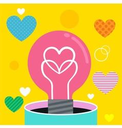 Bulb love vector image