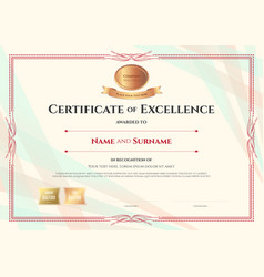 certificate of excellence template on abstract vector image