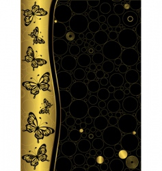 decorative gold and black frame vector image