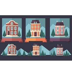 little town vector image vector image