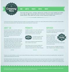 Retro vintage web page template vector image vector image