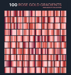 rose gold gradientpatterntemplateset of colors vector image