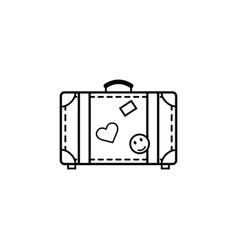 travel bag line icon travel tourism vector image