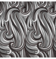 vector seamless abstract monochrome pattern vector image