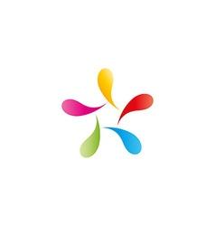Abstract figure man logo colorful vibrant drops vector image vector image