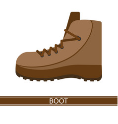boot icon vector image