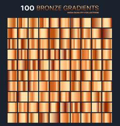 bronze gradientpatterntemplateset of colors for vector image
