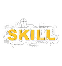 design concept of word skill website banner vector image