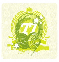 dj studio headphones vector image